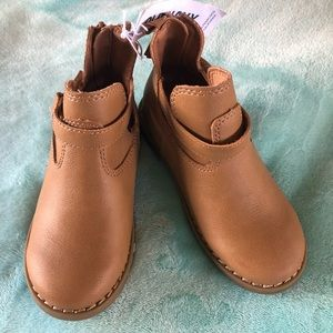 Old Navy Tan Ankle Strap Boots